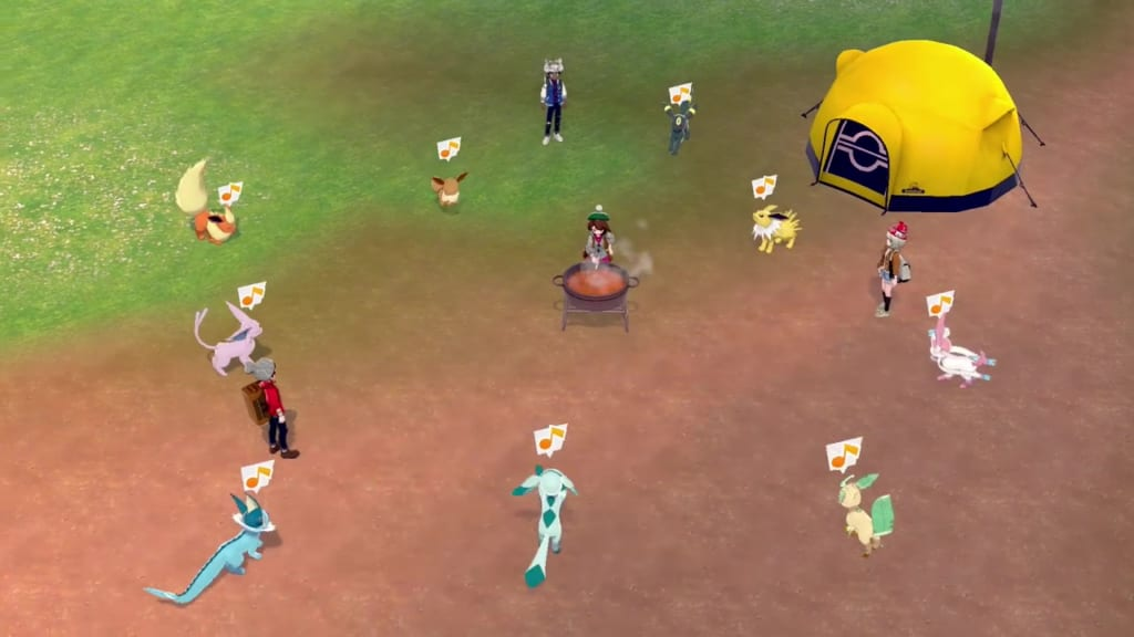 Pokemon Sword and Shield - Curry sur du riz