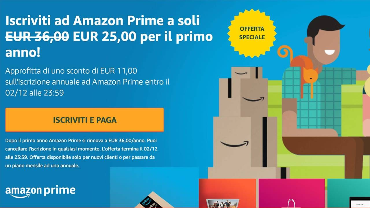 Amazon Prime offre Black Friday
