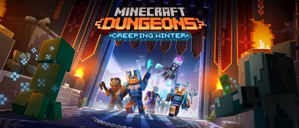 Minecraft Dungeons DLC Creeping Winter sortira le 8 septembre